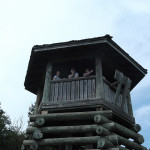Hikers enjoying the view from the Lookout Tower.