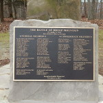The newly dedicated memorial plaque which features the names of the killed or died of wounds.